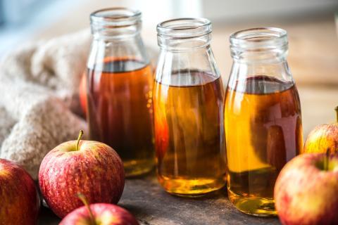Usar vinagre de manzana