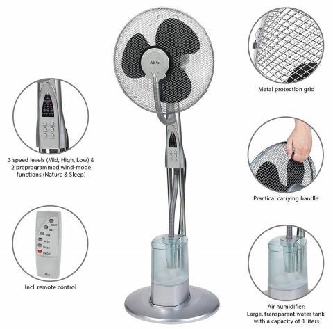 Ventilador de aire evaporativo