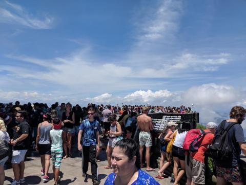 Las vistas sólo son majestuosas si realmente consigues librarte de la multitud y puedes echar un vistazo