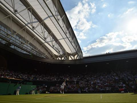 The views at Wimbledon are always stunning.