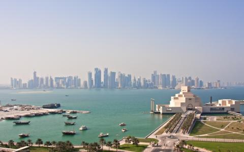 Vista de Doha, en Qatar