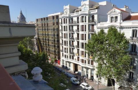 Vista desde la terraza de un ático en venta en Velázquez (Madrid)