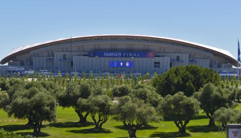 El Wanda Metropolitano, ante la final de la Champions.