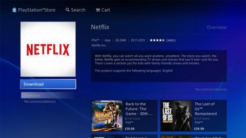 Watch Netflix on a gaming console like PS4