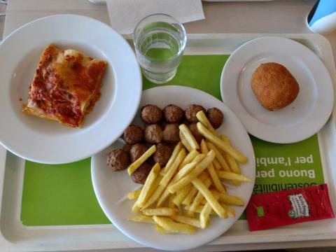 Italian IKEA shoppers can order meatballs, lasagna, or both.