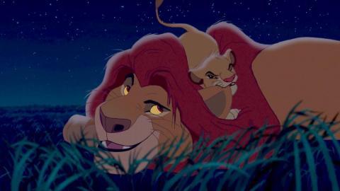 Simba tira de la oreja de su padre varias veces en la película.