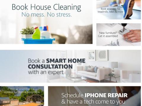 2. Amazon también quiere ayudarte a destapar tu inodoro y a cortar el césped. Home Services facilita la contratación de profesionales cualificados cuando los necesites.