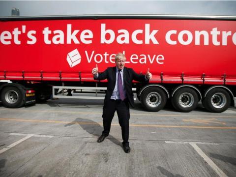 """El 21 de febrero Boris se puso a favor de la salida de la UE, dando un impulso significativo a su campaña """"Leave"""""""
