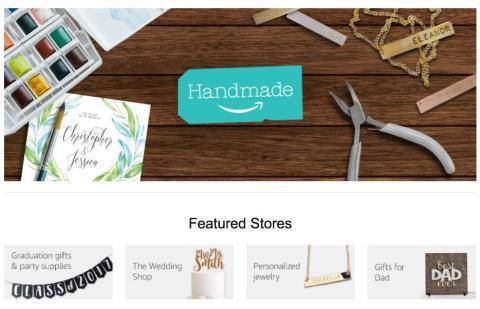 3. En 2015, Amazon lanzó un competidor de Etsy llamado Handmade para ayudar a la gente a encontrar productos hechos a mano por artesanos.