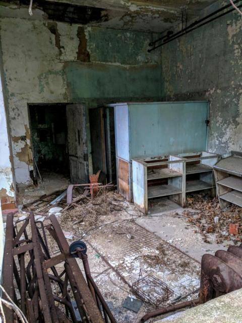 Se abandonaron muchas cosas cuando los habitantes dejaron la isla en 1963