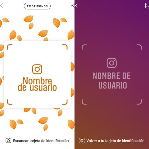Agregar usuario en Instagram