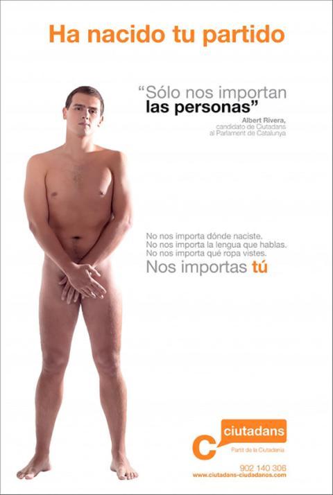 Albert Rivera, al desnudo.