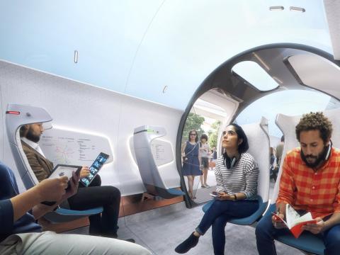 De Amsterdam a Frankfurt en menos de una hora con Hyperloop.