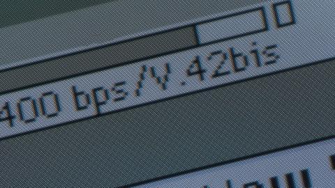 Antigua conexión a internet.