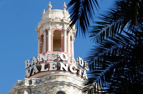 Antigua sede del desaparecido Banco de Valencia