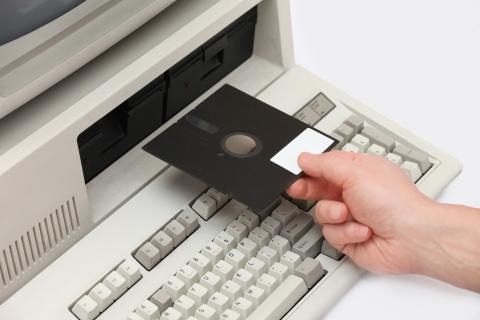 Antiguos disquetes.