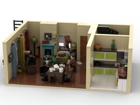 Apartamento de Mr Bean LEGO