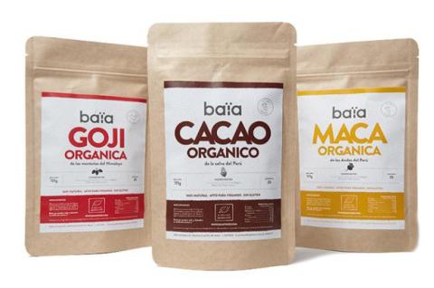 Algunos de los productos a la venta de Baïa Food.