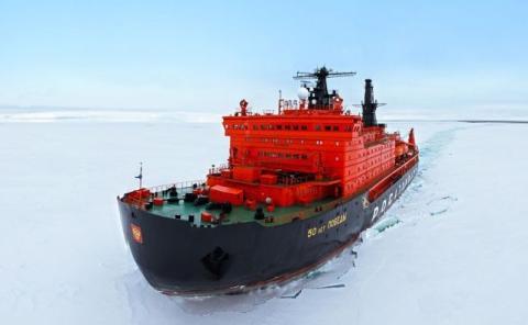 El barco es capaz de romper hielos de tres metros de grosor.