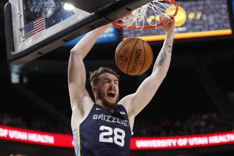Ben Lawson, jugador de los Memphis Grizzlies