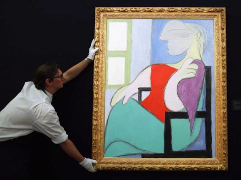 Aquí se puede ver una obra de Pablo Picasso.