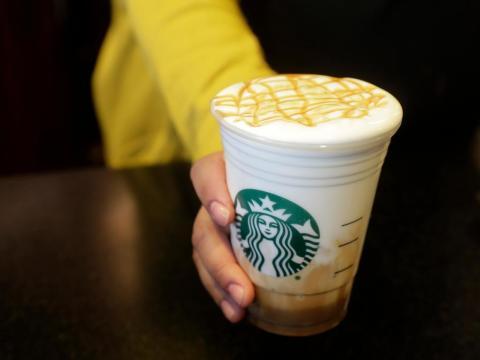 Un café helado de Starbucks.