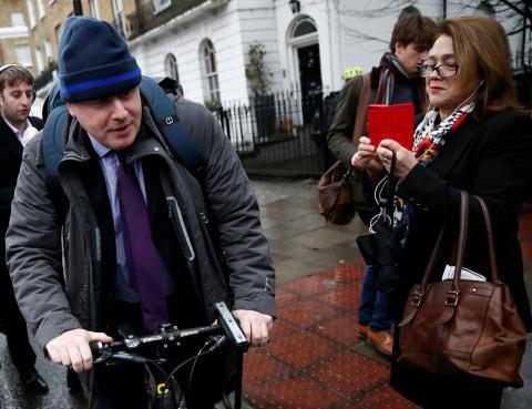 Boris Johnson en bicicleta