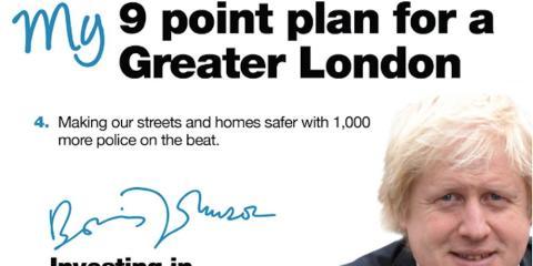 Boris Johnson's 2012 campaign pledge