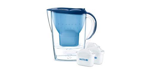BRITA Marella - Jarra de agua filtrada con 3 cartuchos MAXTRA+