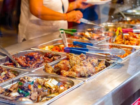 Buffets can be ground zero for a food poisoning outbreak.