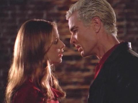 El beso de Buffy y Spike en 'Buffy la Cazavampiros'.