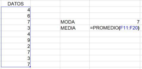 Cómo calcular la media en Excel