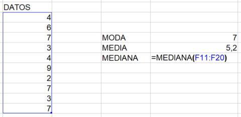 Cómo calcular la mediana en Excel