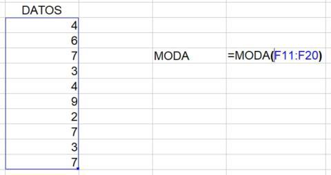 Cómo calcular la moda en Excel
