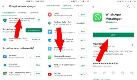 Cómo actualizar Whatsapp en Android
