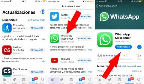 Cómo actualizar Whatsapp en iPhone