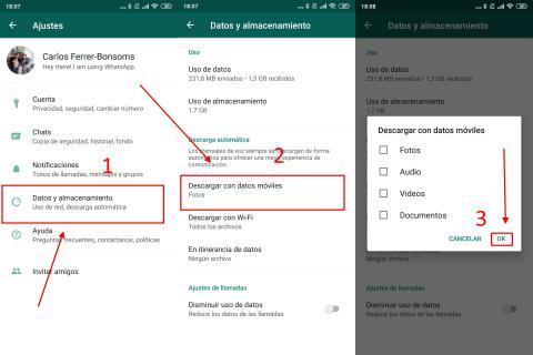 Cómo ahorrar datos en WhatsApp