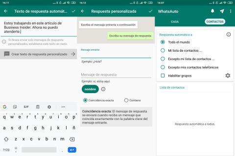 Cómo crear mensajes y respuestas automáticos en WhatsApp