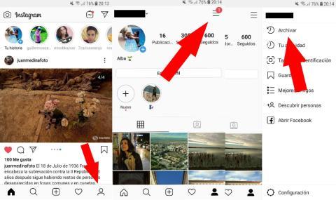 Cómo desarchivar fotos en Instagram