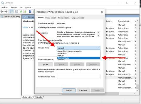 Como quitar las actualizaciones automáticas de Windows 10