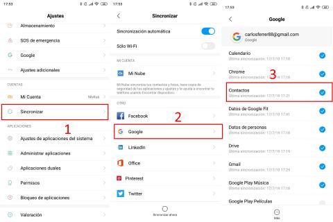 Cómo recuperar contactos borrados de Android con Gmail