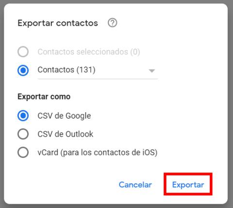 Como recuperar los teléfonos desde Gmail