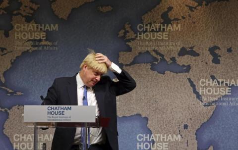 Como secretario de asuntos exteriores, Boris trabajó para convencer al resto del mundo que el Brexit no significaría que Reino Unido se alejaría del resto del mundo.