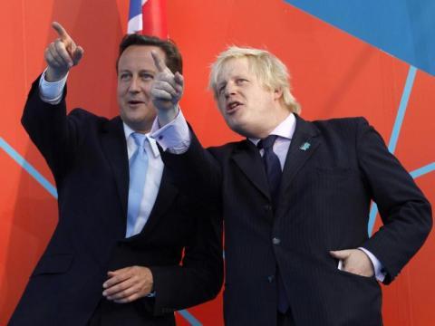 David Cameron y Boris Johnson