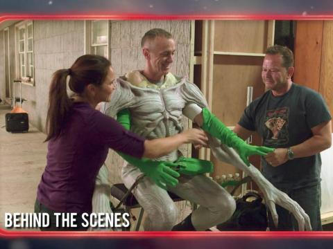 Una escena del set emitida en Más allá de Stranger Things.