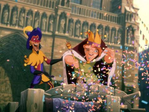 "A scene from ""The Hunchback of Notre Dame."""