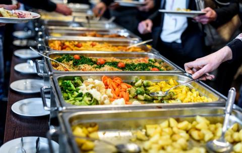 Don't eat buffet food that's been mishandled by other patrons.