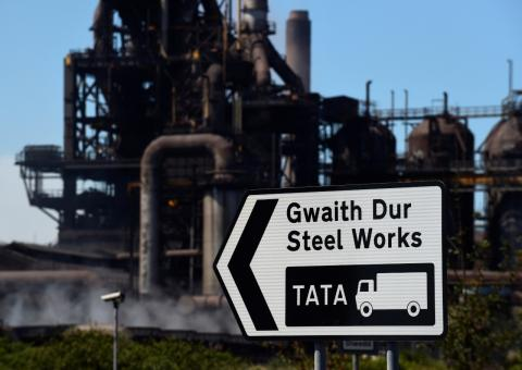 La fábrica de Tata Steel en Port Talbot, Gales