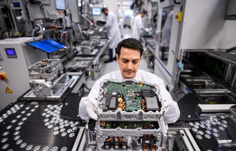 Fabricación de un motor eléctrico de Continental