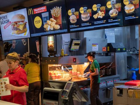 The food at McDonald's in Russia tasted fresher and more flavorful than in the US.